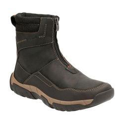 Men's Clarks Walbeck Rise Waterproof Boot Black Waterproof Leather