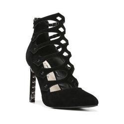 Women's Fergie Footwear Holly Caged Stiletto Black Leather