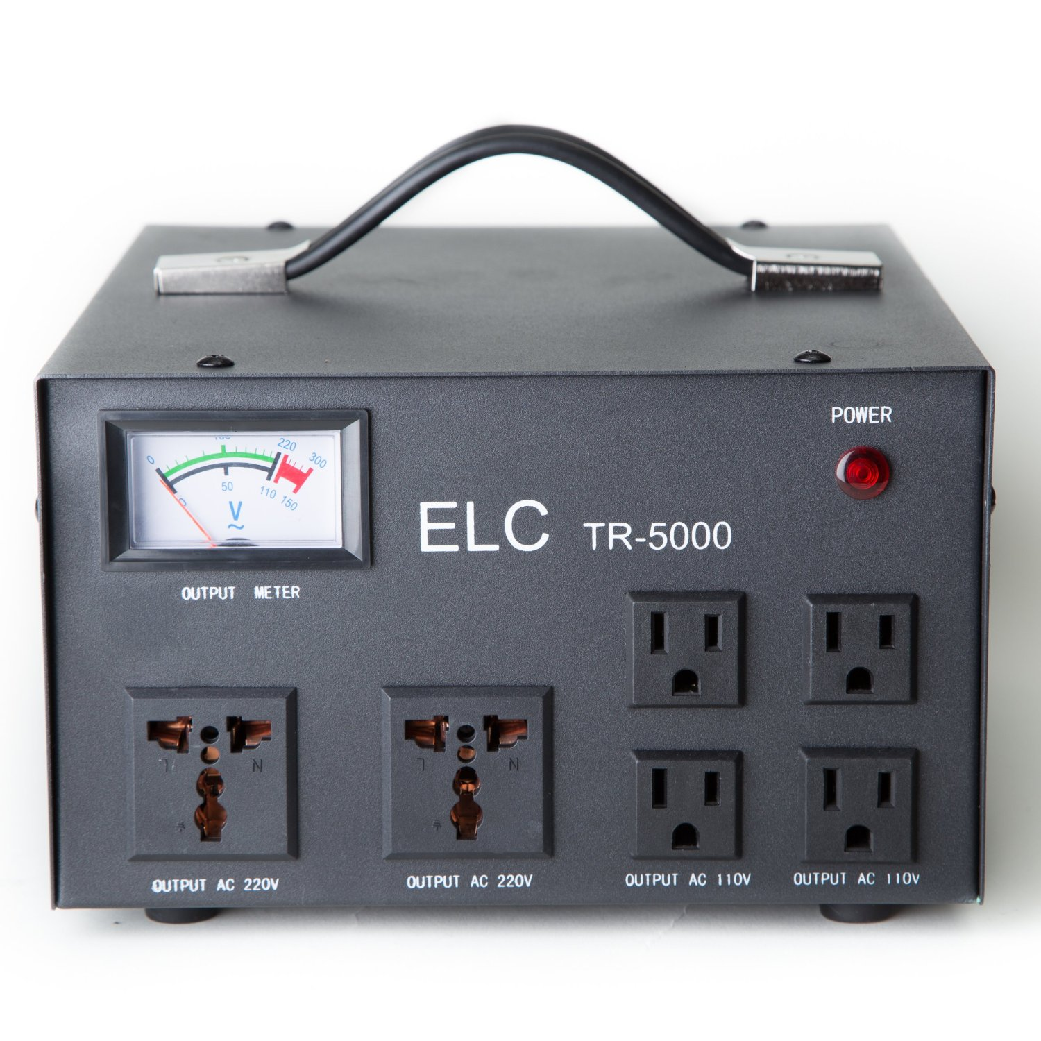 ELC TR-5000 5,000-watt 110V/220V Voltage Regulator with Transformer