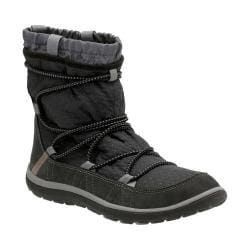 Women's Clarks Aria Frost Ankle Boot Black Synthetic