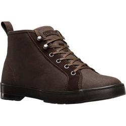 Men's Dr. Martens Coburg 6 Eye LTT Boot Dark Brown 12oz Waxy Canvas/Hi Suede WP