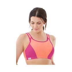 Women's Glamorise Double Layer Custom Control Bra Orange/Pink 19991514