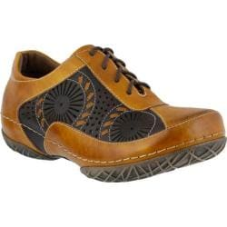 Women's L'Artiste by Spring Step Balmar Lace Up Mustard Multi Leather