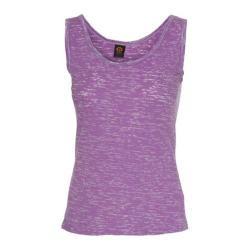 Women's Ojai Clothing Burnout Layering Tank Top Iris