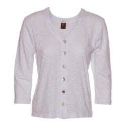 Women's Ojai Clothing Chopped Button Down Cardigan White
