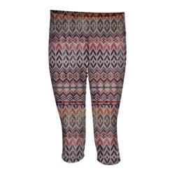 Women's Ojai Clothing Globe-Trotter Knicker Coral Needlepoint