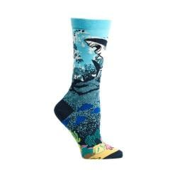 Women's Ozone Great White Shark Crew Socks (2 Pairs) Navy