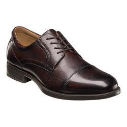 Men's Florsheim Midtown Cap Toe Oxford Brown Smooth Leather