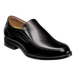 Men's Florsheim Midtown Moc Toe Slip On Black Smooth Leather