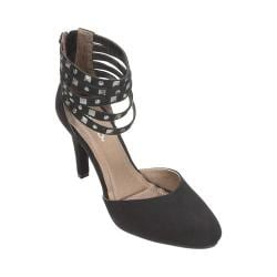 Women's Rialto Carlita Studded Stiletto Black Suedette/Synthetic