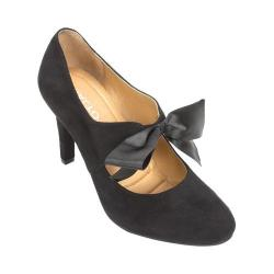 Women's Rialto Corra Ribbon High Heel Black Suedette/Synthetic