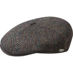 Men's Bailey of Hollywood Galvin Stripe Herringbone Newsboy Cap 25240A Black Multi