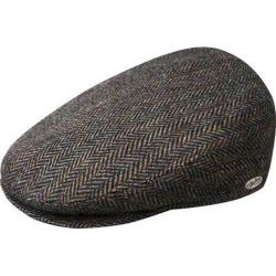 Men's Bailey of Hollywood Lord Stripe Herringbone Flat Cap 25238 Black Multi