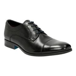 Men's Clarks Banfield Cap Toe Shoe Black Leather