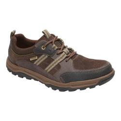 Men's Rockport Trail Technique Waterproof 3-Eye Hiking Shoe Light Chocolate Synthetic Mesh