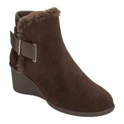 Women's Aerosoles Gravel Ankle Boot Dark Brown Suede