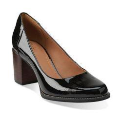 Women's Clarks Tarah Sofia Black Patent Leather
