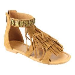 Girls' Wild Diva Favorite-10K Ankle Strap Sandal Tan Faux Leather 20087459