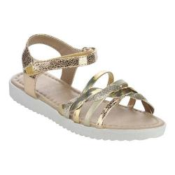 Girls' Wild Diva Kristin-2K-FE Ankle Strap Sandal Gold Faux Leather