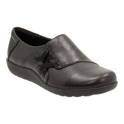 Women's Clarks Medora Sandy Criss Cross Shoe Black Sheep Full Grain Leather