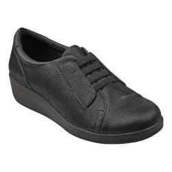 Women's Easy Spirit Kandance Lace Up Black Fabric