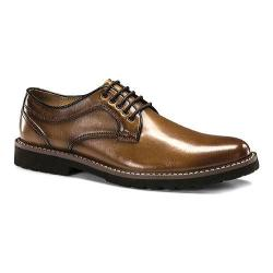 Men's Dockers Baldwin Plain Toe Derby British Tan Burnished Full Grain Leather