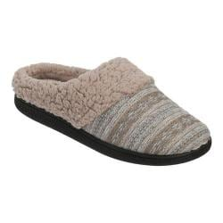 Women's Dearfoams Reverse Fairisle Clog Slipper with Memory Foam Light Heather Grey