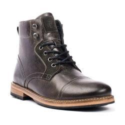Men's Crevo Dalston Cap Toe Ankle Boot Black Leather/Suede