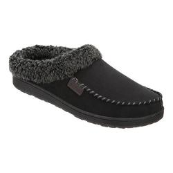 Men's Dearfoams Berber Cuff Clog Slipper with Memory Foam Black