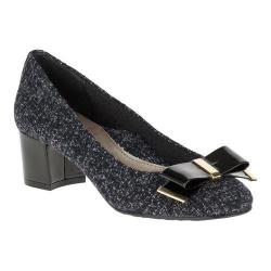 Women's Soft Style Tacita Pump Black Tweed/Patent