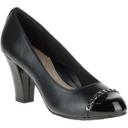 Women's Soft Style Cailna Pump Black Vitello/Patent