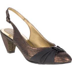 Women's Soft Style Dezarae Bronze Snake/Black Grosgrain