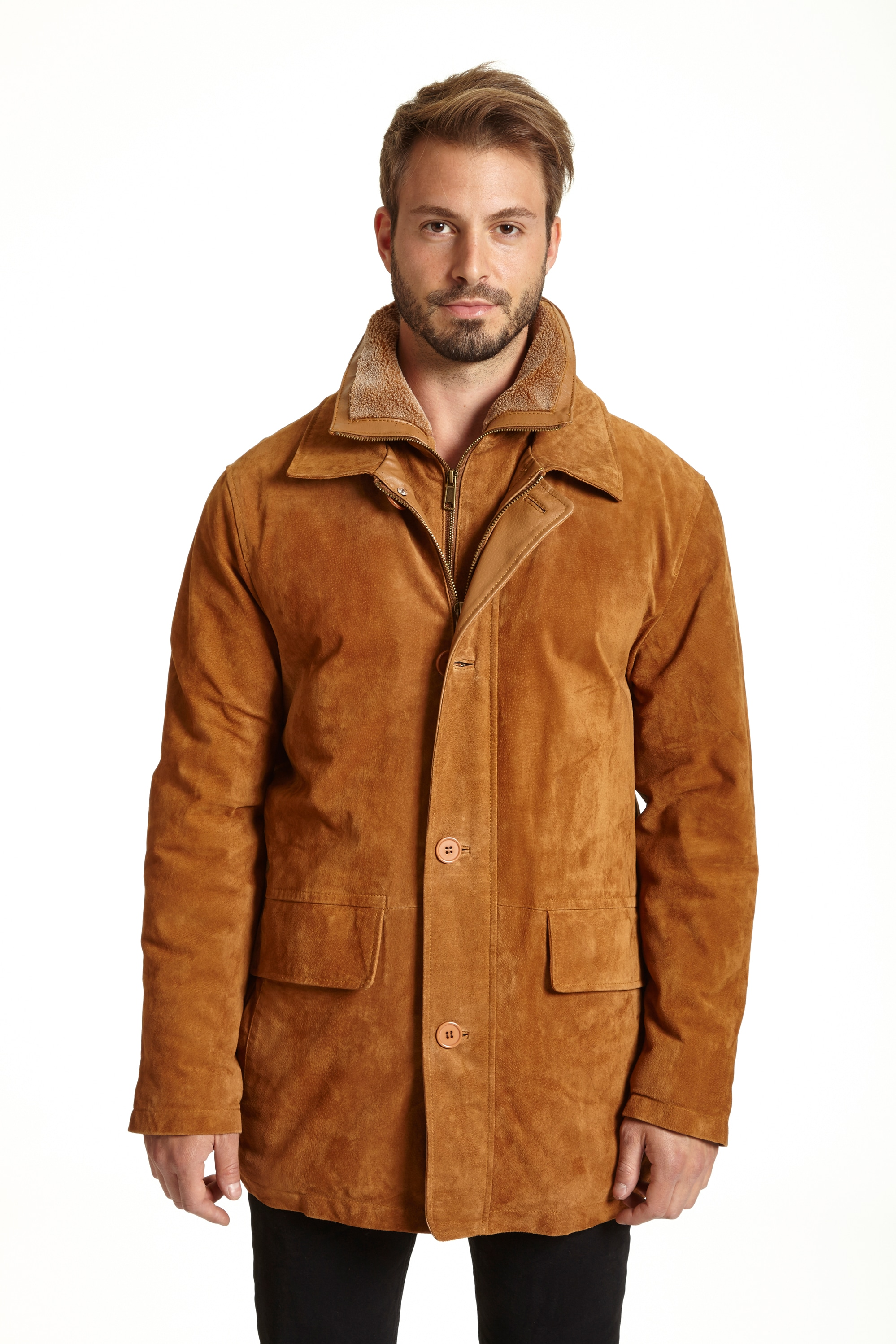 Excelled Men's Suede Feel Jacket
