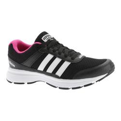 Women's adidas NEO Cloudfoam VS City Sneaker Black/White/Shock Pink