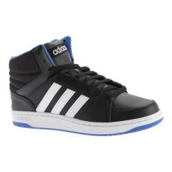 Men's adidas NEO Hoops VS Mid Basketball Shoe Black/White/Blue