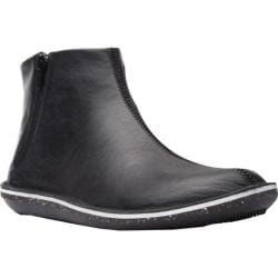 Women's Camper Beetle Ankle Boot Black Smooth Leather