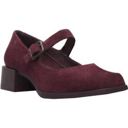Women's Camper Kobo Mary Jane Dark Red Nubuck