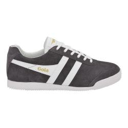 Men's Gola Harrier Suede Sneaker Graphite/White Suede