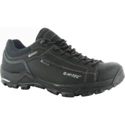 Men's Hi-Tec Trail OX Low I Waterproof Trail Shoe Black/Goblin Blue Leather
