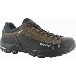 Men's Hi-Tec Trail OX Low I Waterproof Trail Shoe Chocolate/Burnt Orange Leather