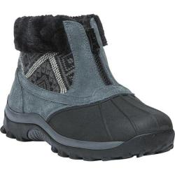Women's Propet Blizzard Ankle Zip II Boot Black/Aztec Knit Leather/Nylon