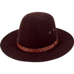 Women's San Diego Hat Company Wool Felt Floppy Hat WFH8027 Brown