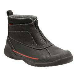 Men's Clarks Allyn Up Waterproof Zip-Up Boot Black Tumbled Cow Full Grain Leather
