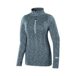 Women's Terramar Thermolator Cloud Nine Half Zip Grey Melange