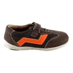 Boys' L & C Jake-881K Adjustable Strap Shoe Brown