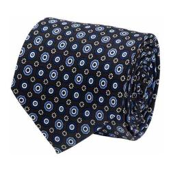 Men's Cufflinks Inc Circle Patterned Tie Blue