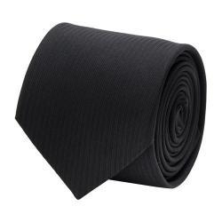Men's Cufflinks Inc Formal Pinstripe Silk Tie Black