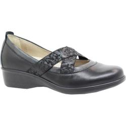 Women's Dromedaris Rita Slip-On Black Leather