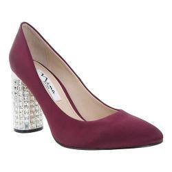 Women's Nina Idabell Pump Dark Wine Crystal Satin