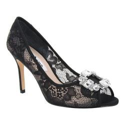 Women's Nina Rhodes Peep-Toe Pump Black Rose/Lace Mesh